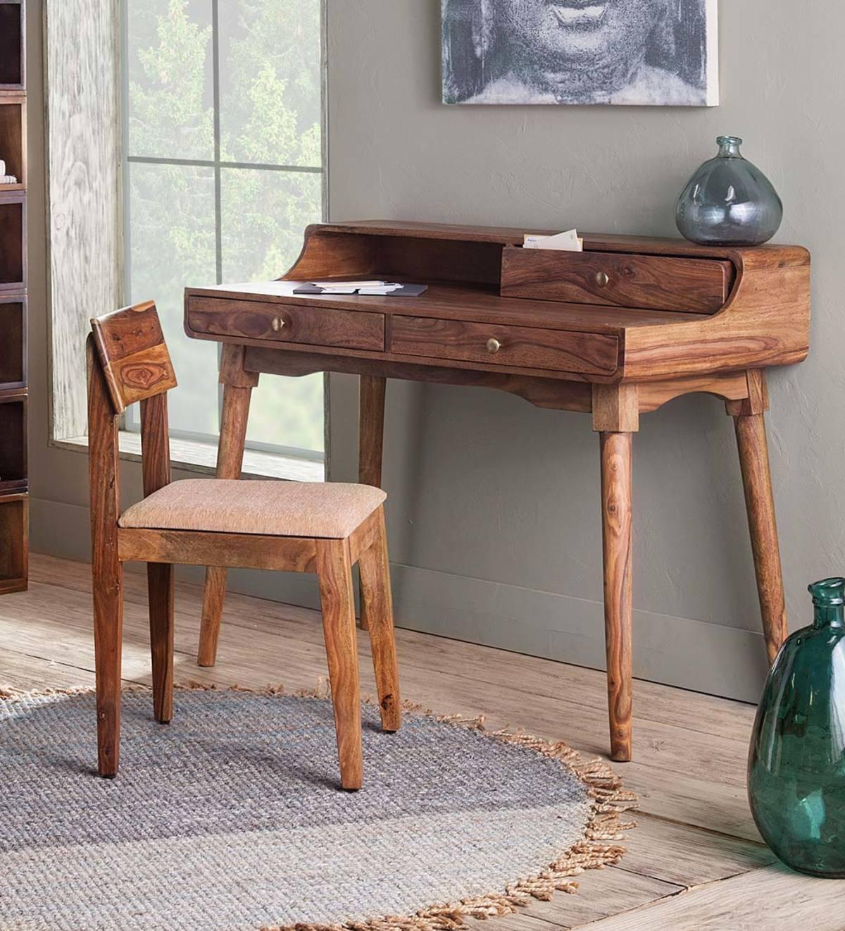 Image of: Three Drawer Study Desk Vivaterra