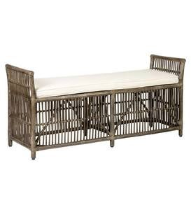 Winston Double Rattan Bench
