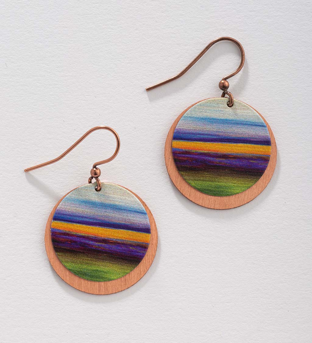 Artisan-Made Round Copper Earrings