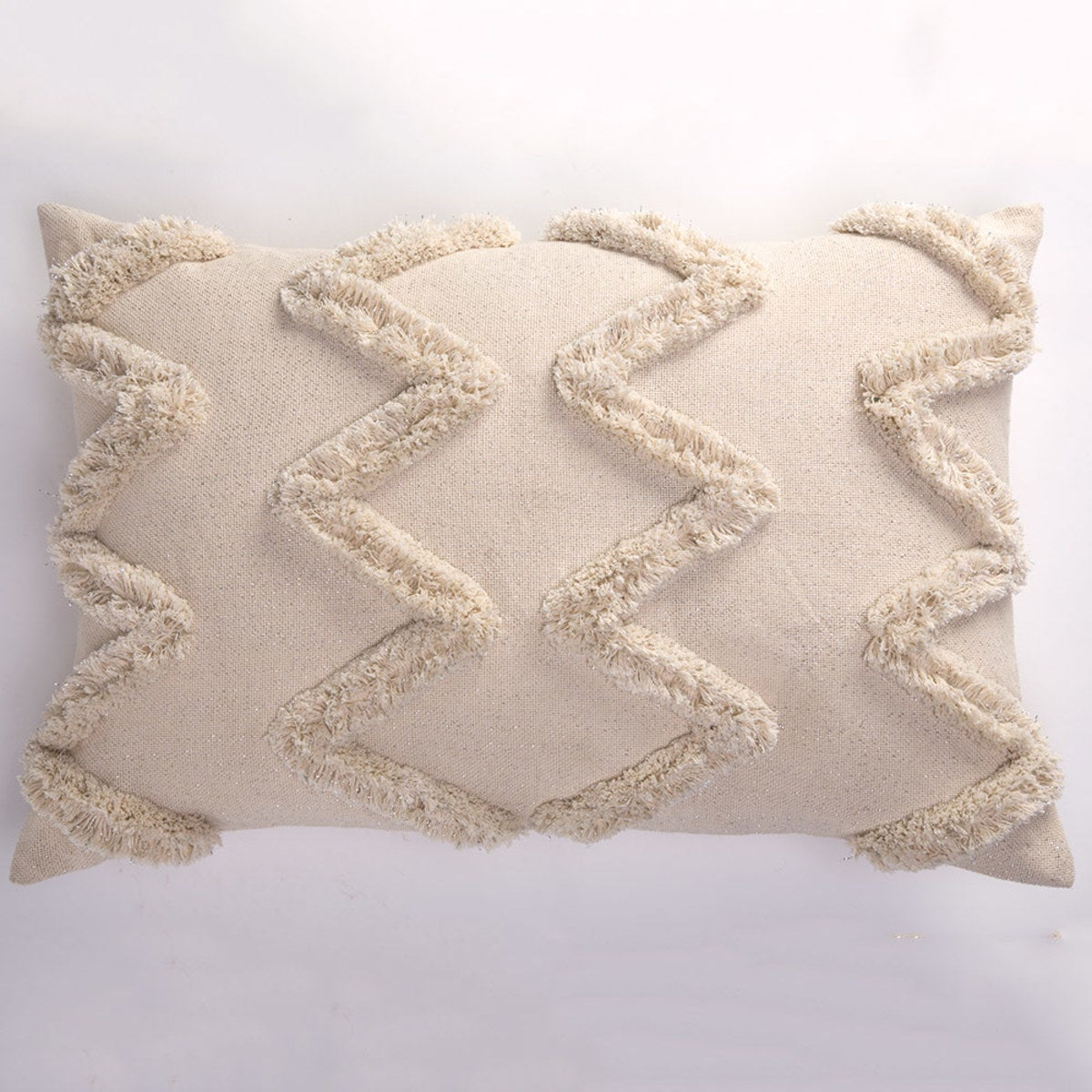 "Large Shimmering Rectangle Pillow Cover, 18"" sq. - Large Rectangle"