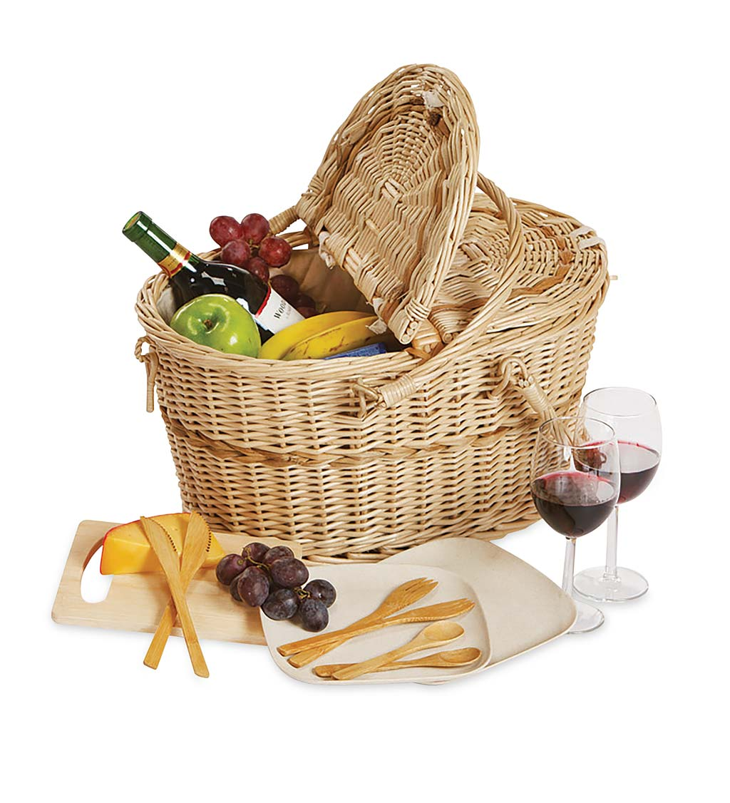 Eco-friendly Picnic Basket Set for 2