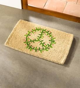 Peace Wreath Coir Mat