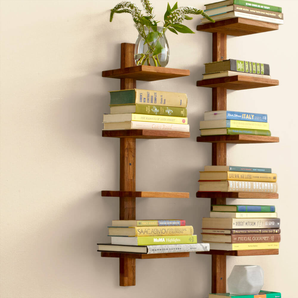 Golden Teak Column Shelf - Small