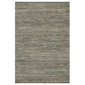 "Loloi Edge Leather & Jute Rug in Brown - 7'9"" x 9'9""  - Ivory"