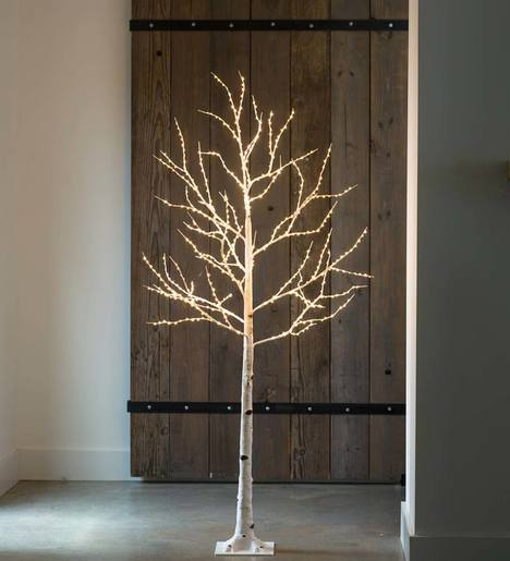 Birch LED Lighted Tree, Large 6'H