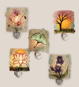 Botanical Recycled Glass Nightlights