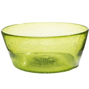 Bright Bubbled Recycled Glass Serving Bowl