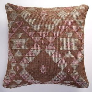 Reversible Indoor/Outdoor Diamond Pillow Cover - 26""