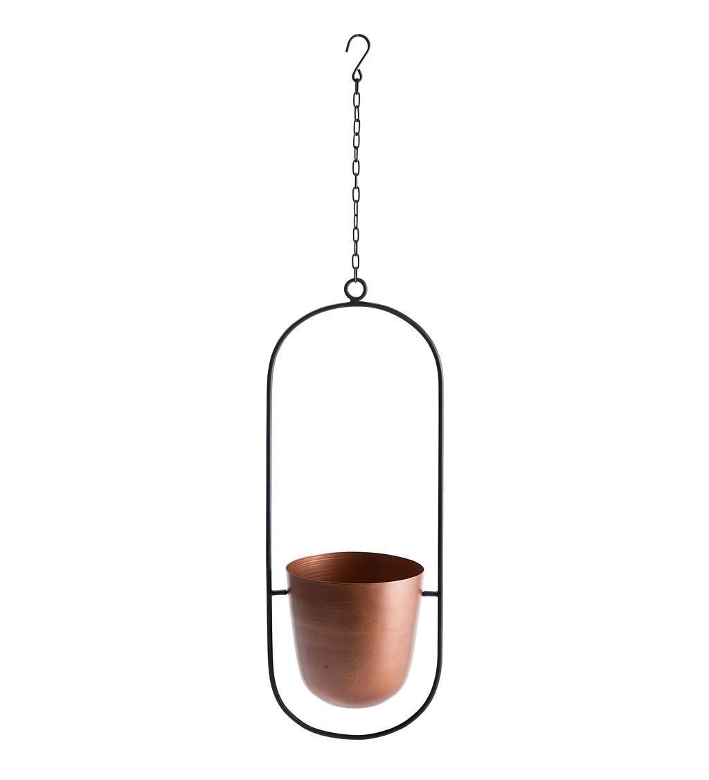 Copper Finish Hanging Planters