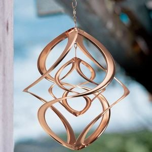 Copper Hanging Double Wind Spinner