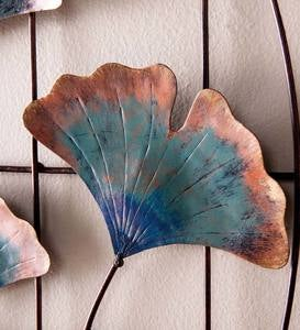 Recycled Metal Ginkgo Leaf Wall Décor