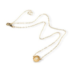 Handmade Eggshell Pendant Necklace in Gold