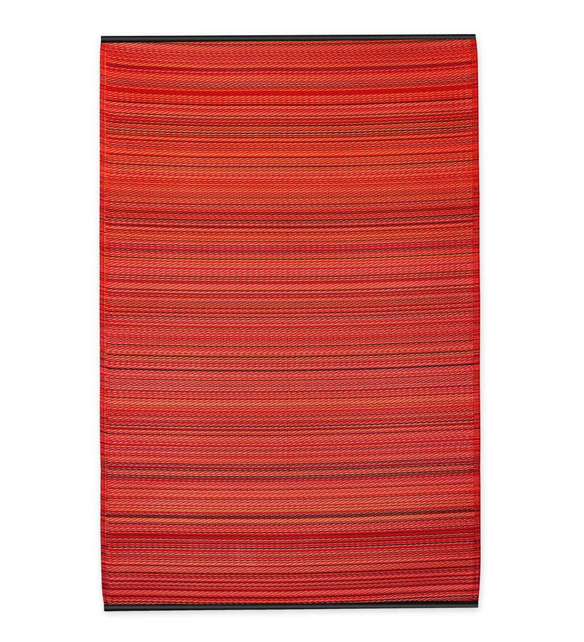 Reversible&Recycled Indoor/Outdoor Rug Cancun Style - 8x10 - Sunset