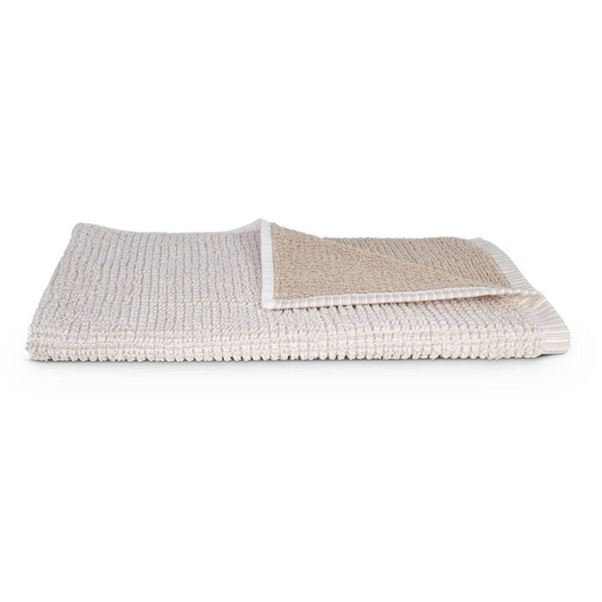 Organic Cotton Duo Weave Hand Towel - White