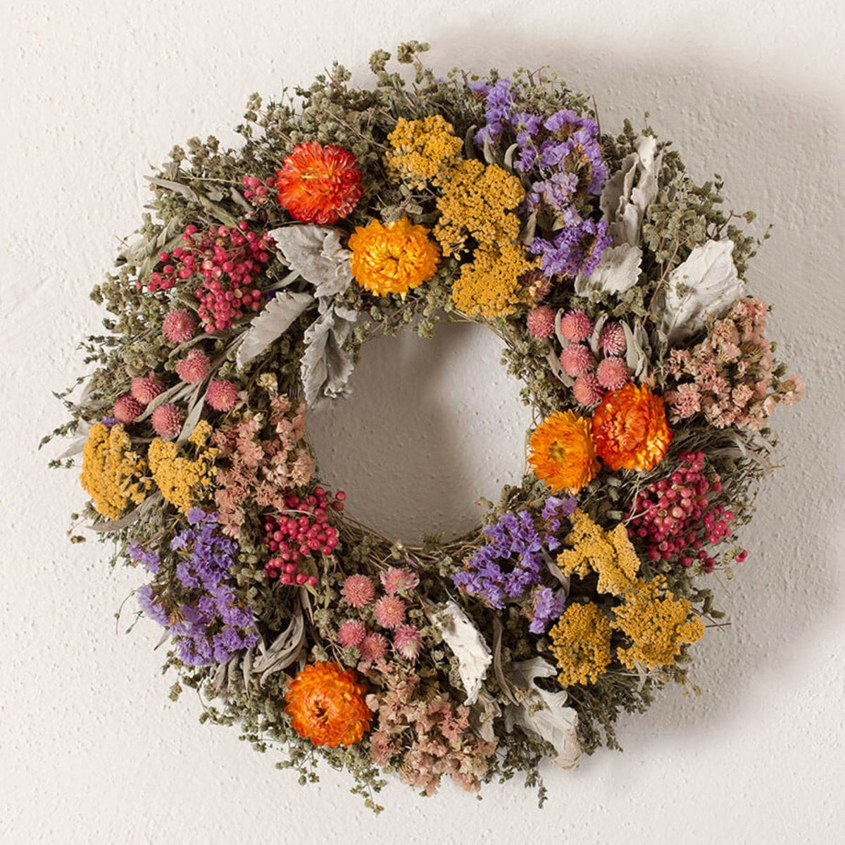Organic Bold Colors Floral Wreath