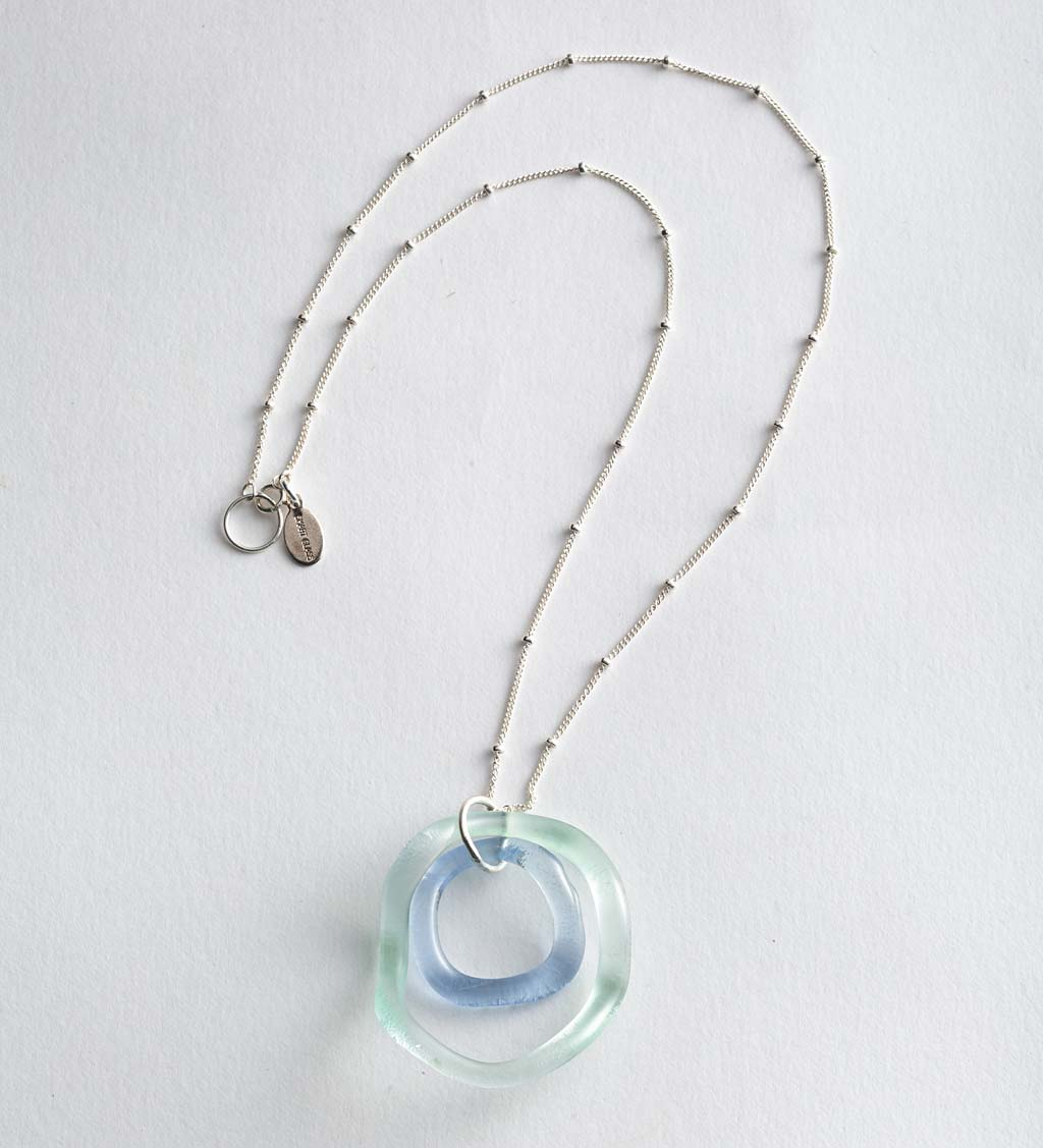 Recycled Wave Glass Necklace swatch image