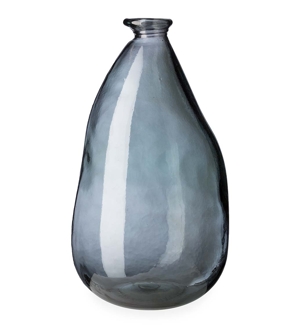 "Oblong Recycled Glass Balloon Vase, 14"" swatch image"