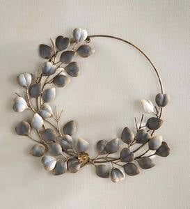 Antiqued Leaf Metal Wreath