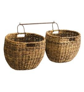 Javanese Woven Storage Baskets, Set of 2