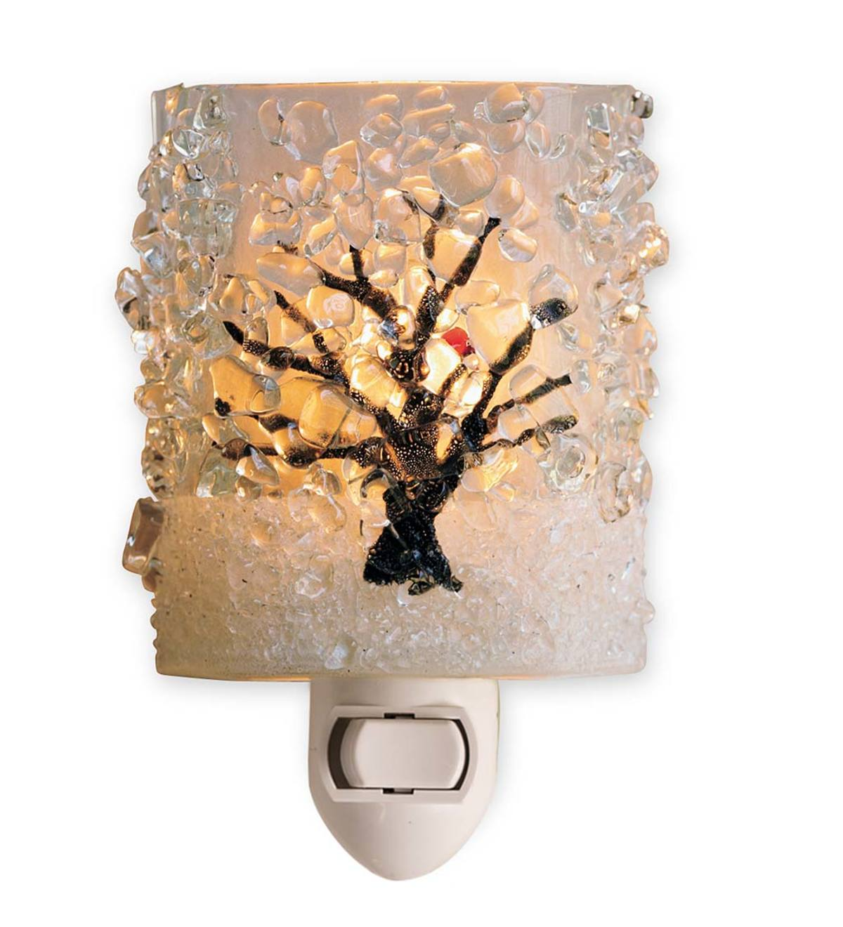 Winter Tree with Cardinal Nightlight