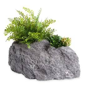 Two Hole Feather Rock Lightweight Rock Planter