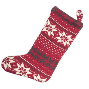 Organic Cotton Holiday Fair Isle Stocking