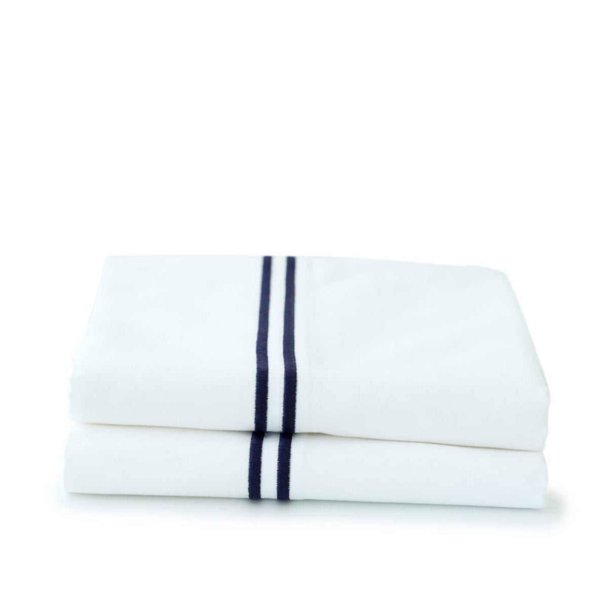 500 Thread Count Sateen Satin Stitch Twin Sheet Set - Indigo