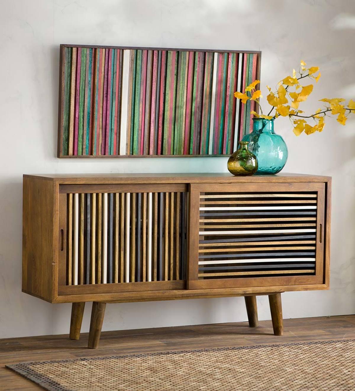 Stupendous Hand Stained Natural Stripe Mango Wood Sideboard Vivaterra Uwap Interior Chair Design Uwaporg