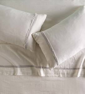 Frayed-Edge Linen Sheets