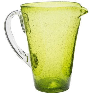 Bright Bubbled Recycled Glass Pitcher