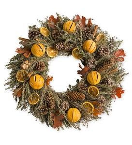 Orange-Pinecone Fall Wreath