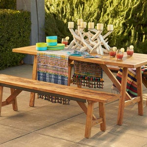 Teak Four-Season Table and Bench