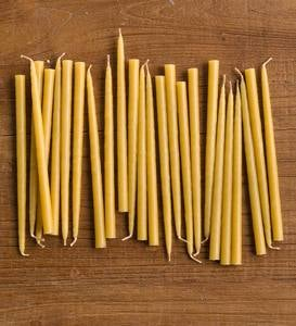 "All Natural Beeswax 6"" Taper Candles Set of 24"