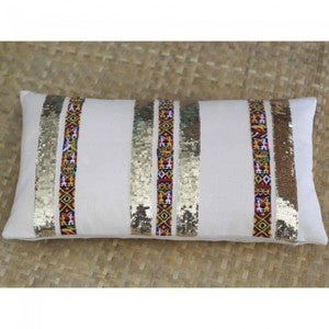 Guatemalan Sequin Stripe Pillow Cover