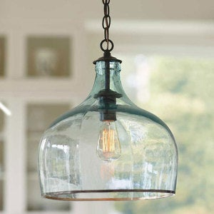 Recycled Glass Globe Hanging Lamp