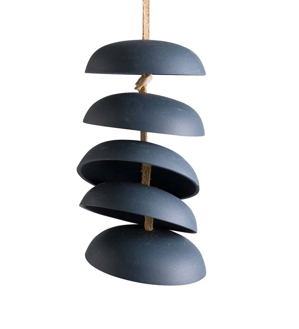 Ceramic Chime Sets, 5 Discs - Charcoal - SM