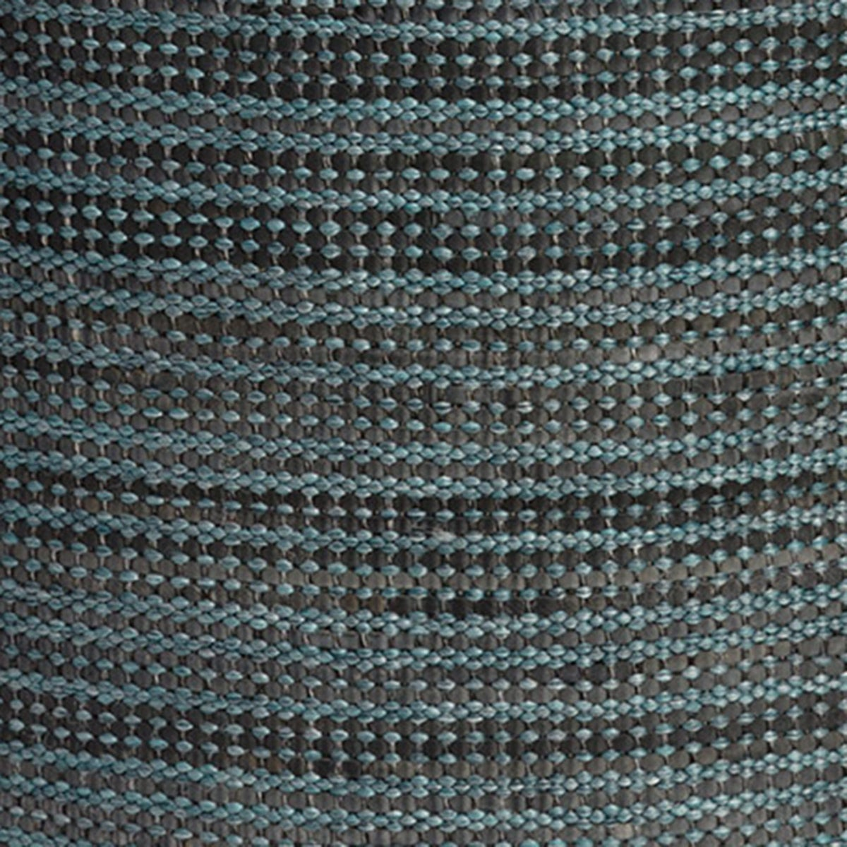 "Handwoven Recycled Rubber Indoor/Outdoor Pillow Cover, 18"" - Aqua"