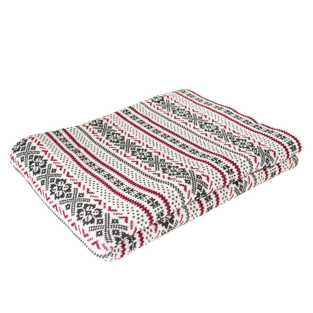 Organic Cotton Fair Isle Throw