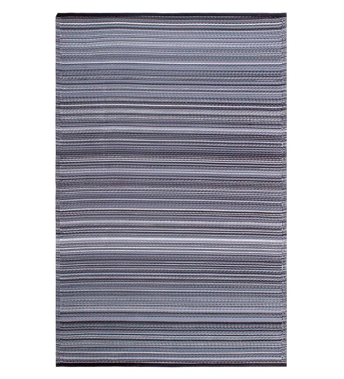 Reversible & Recycled Indoor/Outdoor Rug Cancun Style, 5'x8' - Midnight