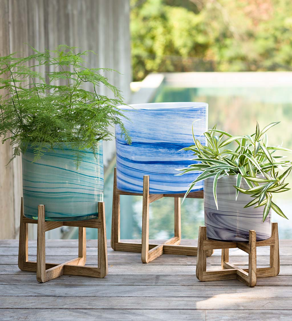 Glass Planters on Stands