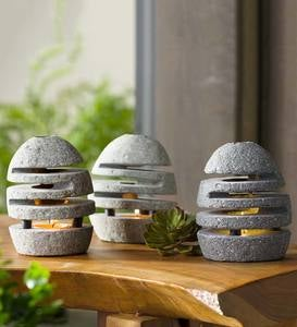 Slotted Stone Tealight Holder
