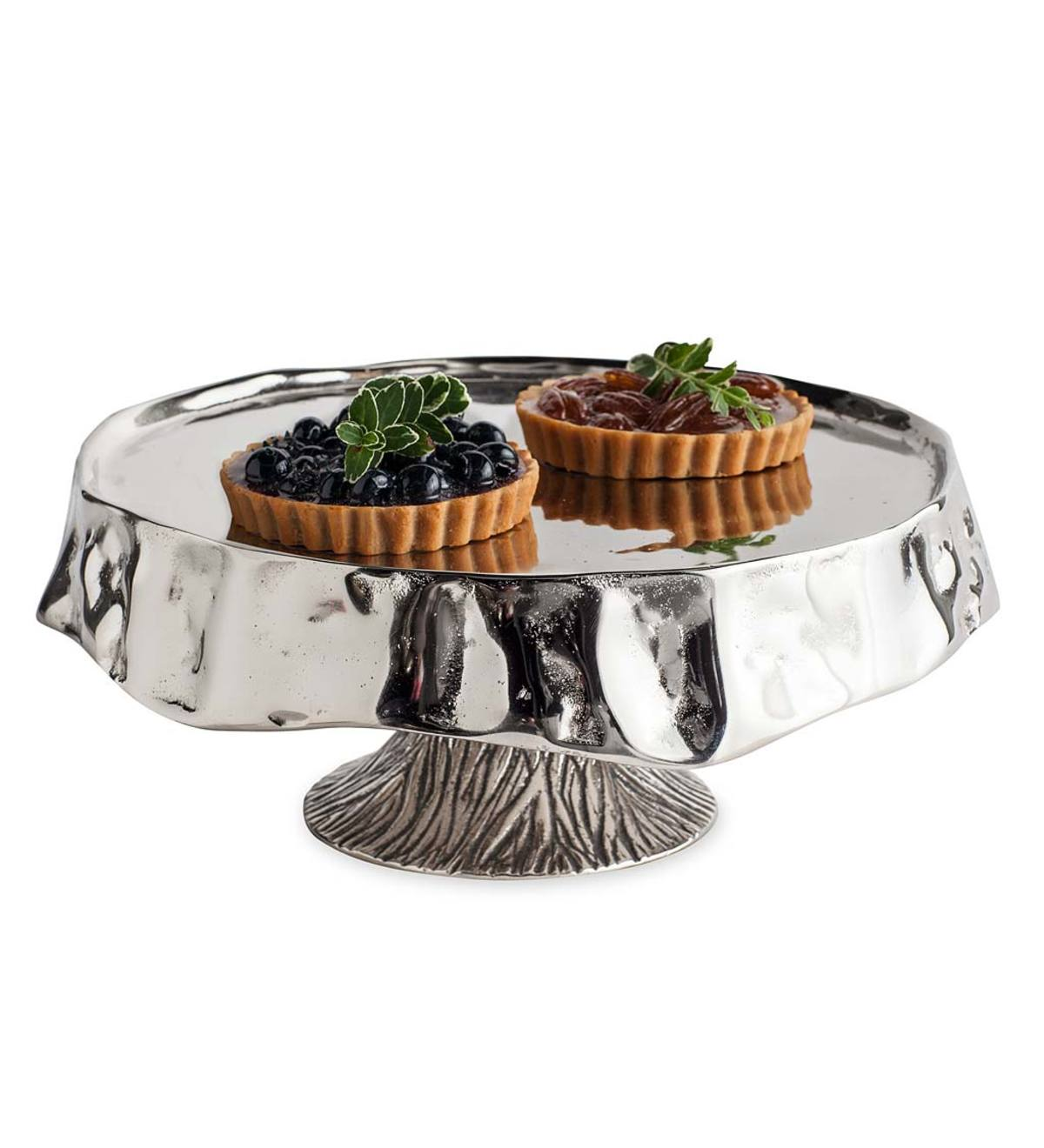 Cast Aluminum Pedestal Serving Tray