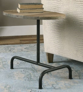 Martez Iron and Reclaimed Elm Accent Table