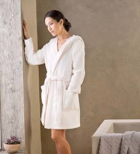 Short Carded Cotton Robe