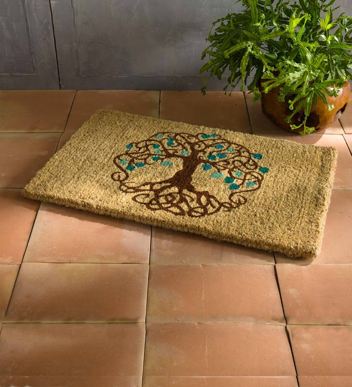Tree of Life Natural Coir Mat