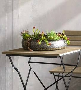Galvanized Metal Nesting Succulent Planters Set of 2