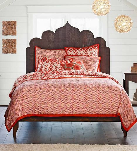 Vintage Fir Global Taj Bed Queen