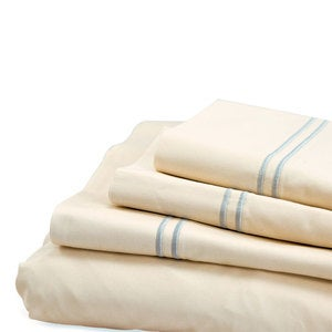 500 Thread Count Sateen Satin Stitch Twin Sheet Set - White