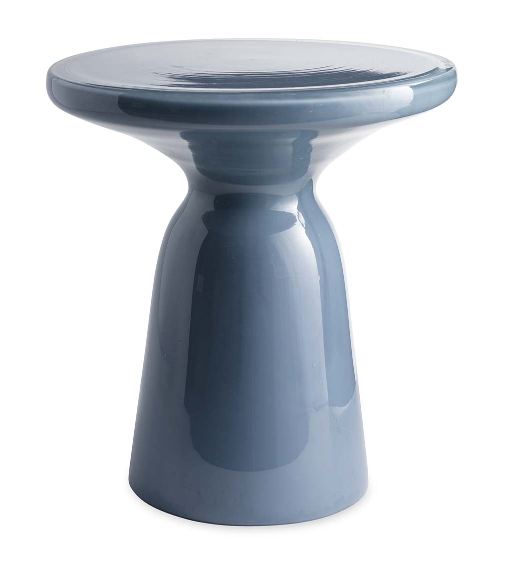 Glass Pedestal Table