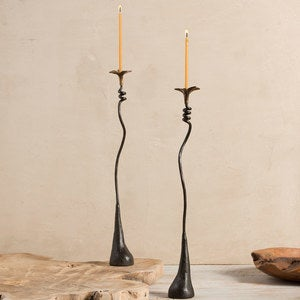 Twisting Vine Iron Candlestick - Jasmine Set of 2